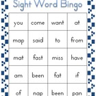 Sight Word Bingo Volume 1