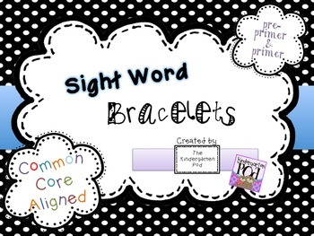 Sight Word Bracelets - Pre-Primer & Primer