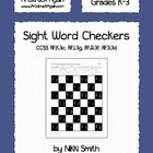Sight Word Checkers by Nikki Smith
