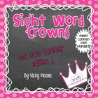 Sight Word Crowns + printables { set 2 primer edition }