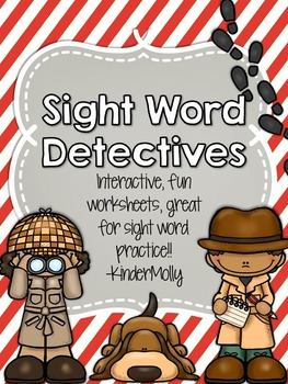 {Sight Word Detectives} - Kindergarten Pre-Primer Sight Wo