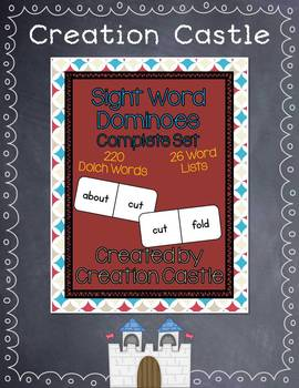 Sight Word Dominoes - Complete Dolch List