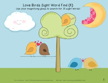 Sight Word Finds-Love Birds! K-1