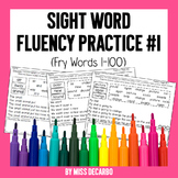 Sight Word Fluency Pack #1 Fry Words 1-100