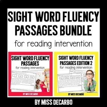 Sight Word Fluency Passages for Reading Intervention: BUNDLE PACK!