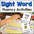 Sight Word Fluency Sentences: Literacy Center Games