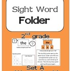 Sight Word Folder: Set A