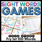 Sight Words Game: Pair Stare Fry First Hundred, Great for