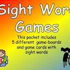 Sight Word Gameboards- Third Grade