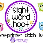 Sight Word Hoot - Pre-Primer Dolch List