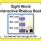 Sight Word Interactive Rhebus Book:  I, a, see, we, can, y