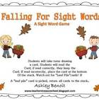 Fall Sight Word Literacy Centers