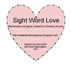 Sight Word Love