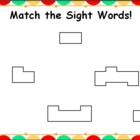 Sight Word Matching Mats