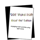 Sight Word Math: Grade 1 Edition