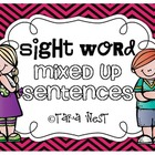 Sight Word Mixed Up Sentences {20 words}