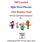 Sight Word Phrases Set 1