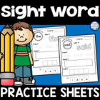 Sight Word Practice Sheets {218 words}