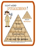 Sight Word Pyramids!  Dolch Pre-Primer