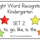Sight Word Recognition Kindergarten Set 2