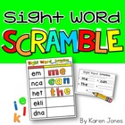 Sight Word Scramble {Magnetic Letter Center}