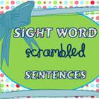 Sight Word Scrambled Sentences, Lists 1-3, Common Core Stlye