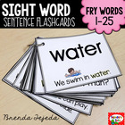 Sight Word Sentence Flashcards and Assessment Pack 1: Fry