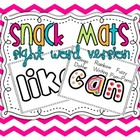 Sight Word Snack Mats {52 mats}
