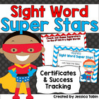 Sight Word Superhero Certificates