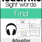 Sight Word Tutor: FIND [Interactive Center with Printables