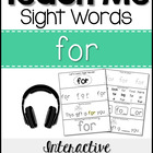 Teach Me Sight Words: FOR [Interactive Center with Printab