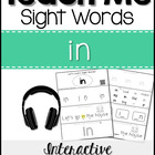 Sight Word Tutor: IN [Interactive Center with Printables a