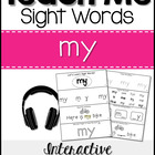 Sight Word Tutor: MY [Interactive Center with Printables a