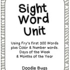 Sight Word Unit: Fry's first 300 Words, Color, Number, Day