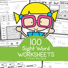 Sight Word Worksheets Mega Pack for 100 Words