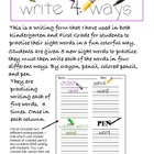 Sight Word Writing Practice K-1