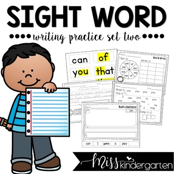 Sight Word Writing Practice Too
