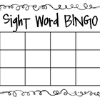 Sight Word/Spelling Word Bingo
