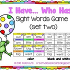 Sight Words Activity~ I Have, Who Has? Game Cards {Set Two}
