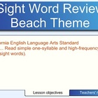 Sight Words - Beach Theme