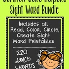 Sight Words Bundle - Read Color Circle Create Printables {