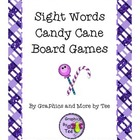 Sight Words Candy Cane Games for all Dolch Words