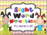 Sight Words Cut, Paste, Write, Highlight and Find {Fry List 1-5}