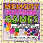 Sight Words Egg Hunt Memory Game Words 1-50