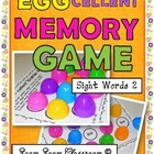 Sight Words Egg Hunt Memory Game Words 51-100