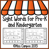 Sight Word Practice Pages :  (Set One)