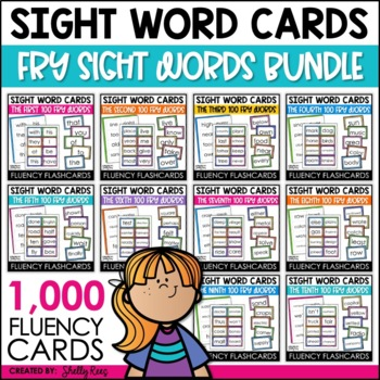 BlackFriday14 Sight Words Word Wall Bundle -1,000 Fry Word