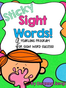 Sight Words that Stick {editable} Dolch List Sight word activities