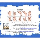 Sign Language Sight Words: Primer {FREE}
