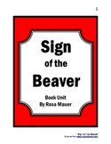 Sign of the Beaver Book Unit